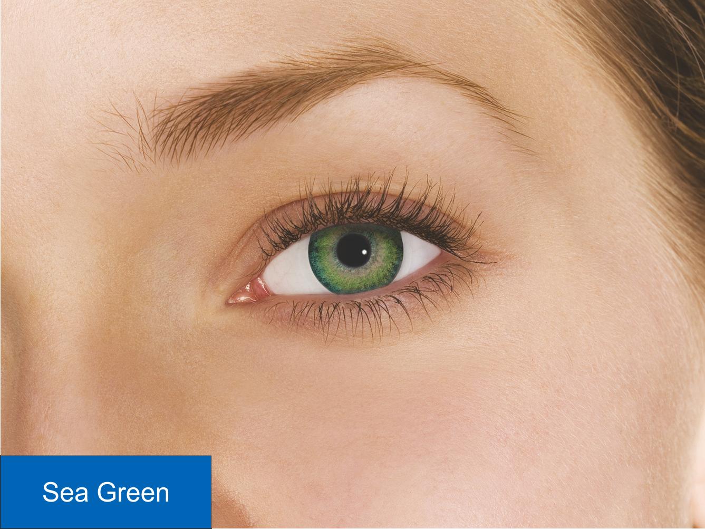 Green цвет линзы